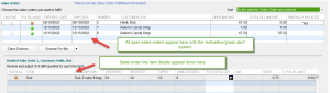 Sales order fulfillment worksheet found in QuickBooks