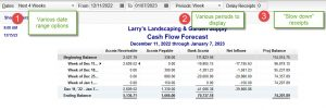 Cash Flow Forecast Report in QuickBooks
