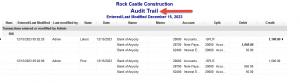 Audit Trail Report Sample