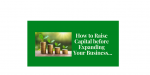 How to Raise Capital Before Expanding Your Business