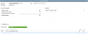 Item allocations in QuickBooks