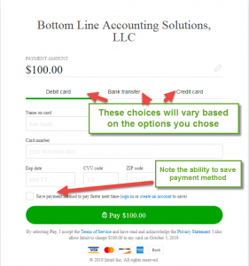 Offering credit card payments in QuickBooks