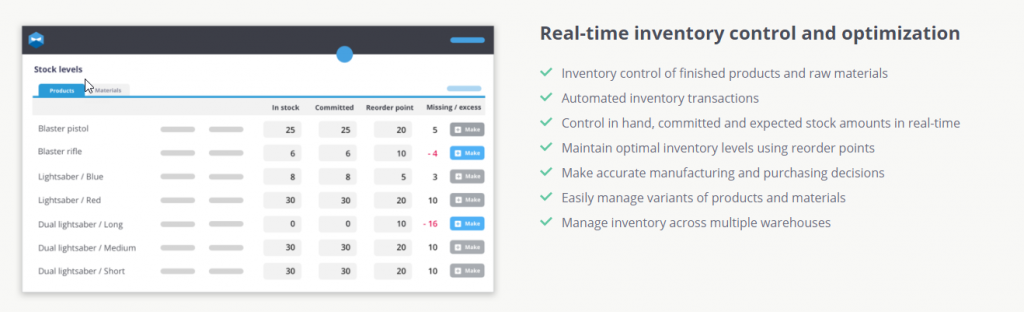 Inventory Control for Manufacturers using QuickBooks