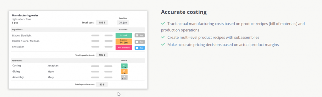 Product Costing and Margin Analysis for QuickBooks