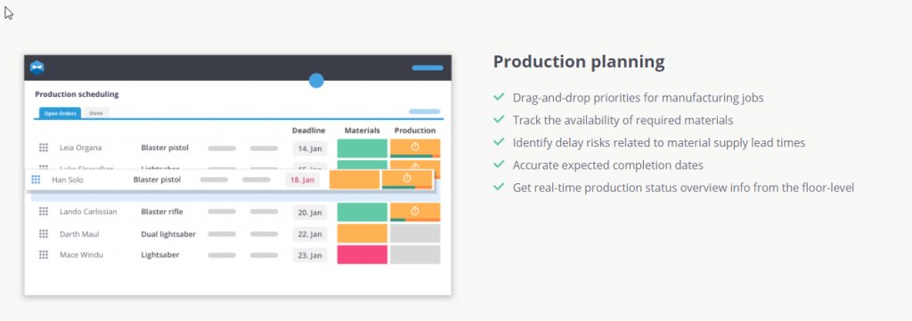 Productions Planning for QuickBooks